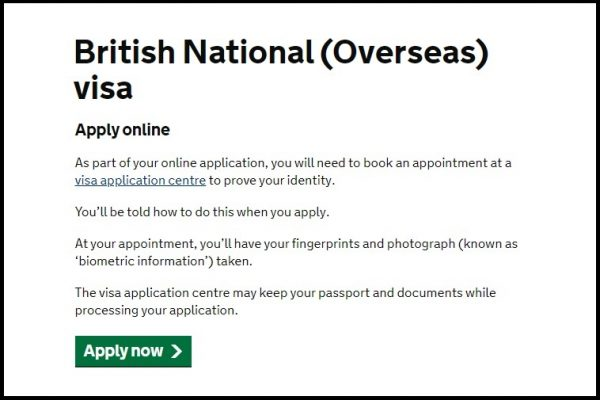 5+1 BN(O)簽證完整申請流程 — 於英國境外(包括香港)申請